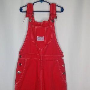 Vintage Wrangler Size 9 jr Red Made In USA